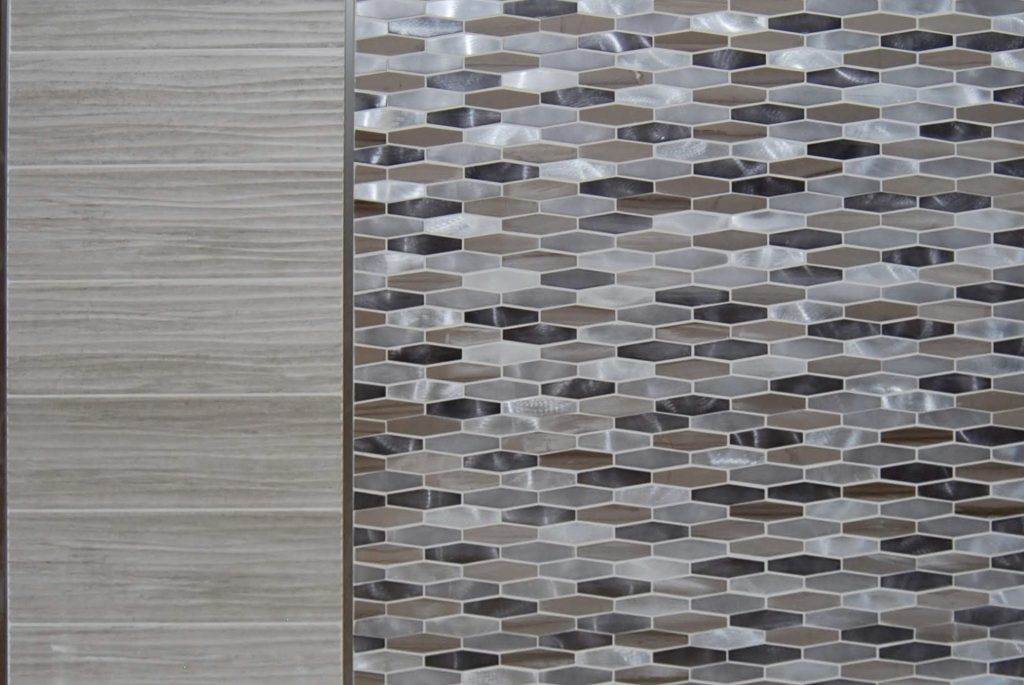 geometric tile for hotel counter