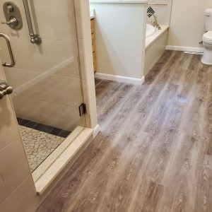 new bathroom floor